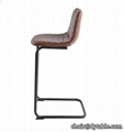 Wholesale counter height Morden Leather bar stool with back high chair vintage m