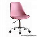 modern leisure colorful dining chair with pu cushion for sale18