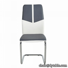 french design metal leather dining chair for dining room