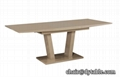 long table dining wood extendable stainless steel luxury dining