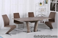 long table dining wood extendable