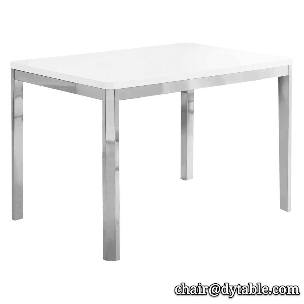 Rectangular Dining Table - White/Chrome