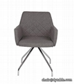 modern grey dining restaurant chair fabric dining chair