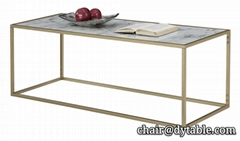 Gold Coast Faux Marble Rectangle Coffee Table
