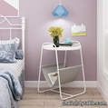 round MDF top nordic sofa side table bed side table modern