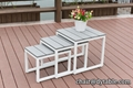 nesting Coffee Side End Tables Modern Furniture Decor for Living Room Balcony Ho