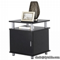 Tier Square End Tables Nightstands with Storage Cabinet for Living Room Bedroom