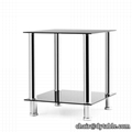 End Table,Sofa Table,Night Table with Tempered Glass Shelves16