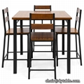 Piece Vintage MDF Height Table Dining Set