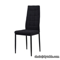 Comfortable and durable fabric modern upholstery dining stainless steel chair