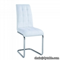 wholesale black faux leather dining room stainless steel table chair
