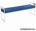 stainless steel velvet ottoman bench seat shoe bench