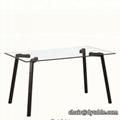 dining room furniture metal leg table