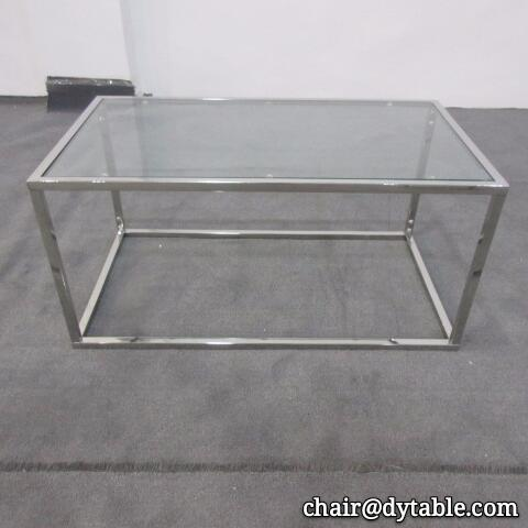 Luxury coffee  furniture stainless steel leg glass coffee tables 1