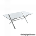 stainless steel dining table designs and chairs sets dinning table