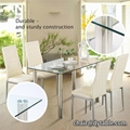 luxury tempered glass stainless steel dining table modern