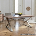 dining table set modern stainless steel