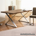 dining table set modern stainless steel table