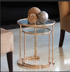 stainless steel small side table