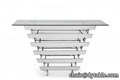 new style glass metal hallway metal console table stainless steel table