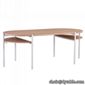 Modern dining room furniture table classic style stainless steel table