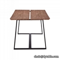 Modern dining room furniture table style material stainless steel table