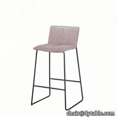 modern iron metal legs armless high bar chair stainless steel chair