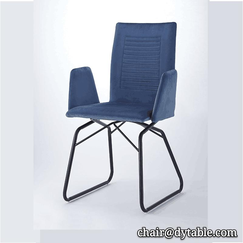 Comfortable rocking chair in the living room stainless steel chair