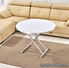 Dining Room Furniture Special Design Saving Space stainless steel Dining Table