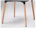 Wholesale Modern Polypropylene Wood Legs Classic Look Black Dining table