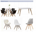 Simple Design Wooden Dining Room Set White MDF Top Dining Table