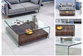 Hot Sale living room furniture tempered hot bent glass coffee table/tea table
