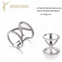 Sterling si  er jewelry ring pendant bangle earrings design manufacturer
