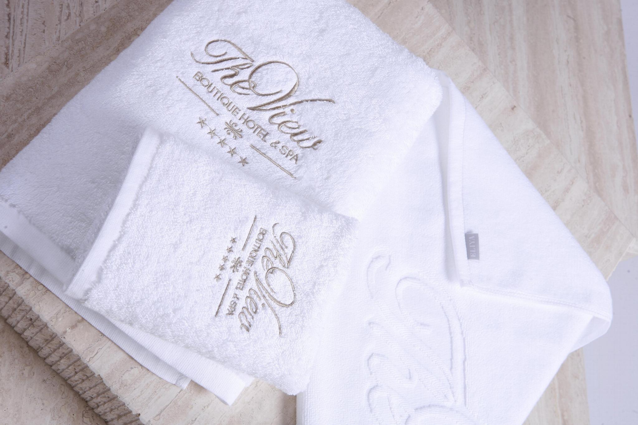 Eliya 100 cotton yarn dyed hotel terry beach towel hotel cotton beach towel 3