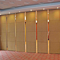 Banquet removable moveable wall partition system with manual operating system