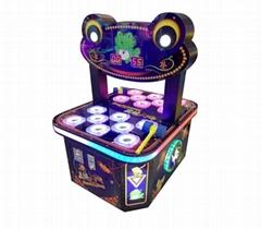 双人疯狂青蛙敲击类彩票游戏机儿童成人电玩游乐设备