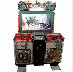 Ruined attack video shooting game machine double shooting gun game machine