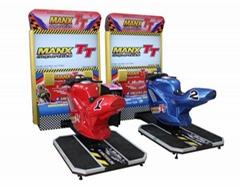Double TT motorcycle arcade racing game machine