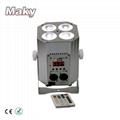 New Design Mini DJ Par QUAD Wireless Battery Powered DMX  LED  Stage Truss Par  3