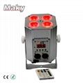 New Design Mini DJ Par QUAD Wireless Battery Powered DMX  LED  Stage Truss Par  4