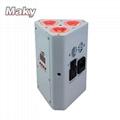 wedge par light 3pcs 18W led battery