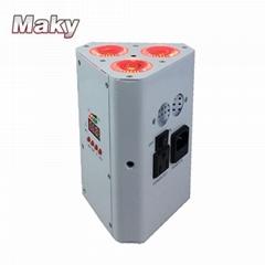 wedge par light 3pcs 18W led battery wireless dmx512 with remote control