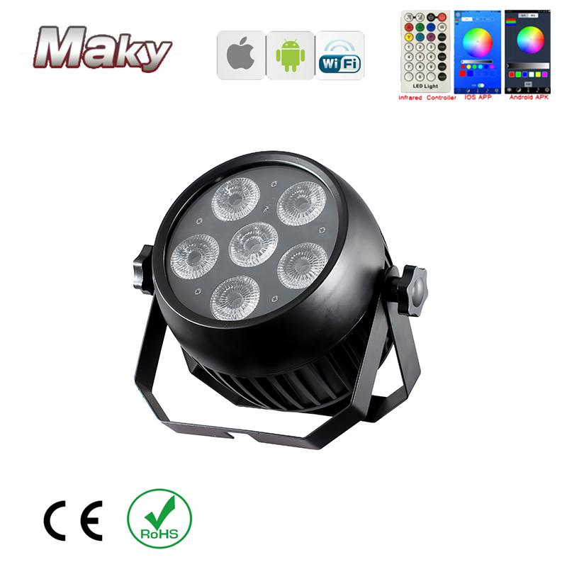 IP65 waterproof outdoor wedding dj club event stage led par can light 6x18w   5