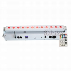 12pcs led battery wireless dmx bar light wall washer with remote control