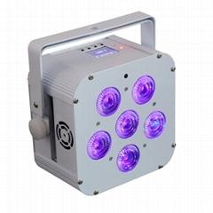 119 dj uplight with battery wireless &IRC remote control DMX slim flat par light