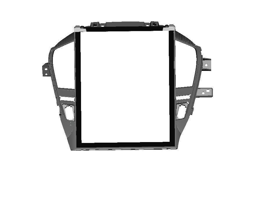 汽车导航面板激光抄数 三维绘图 逆向设计 1