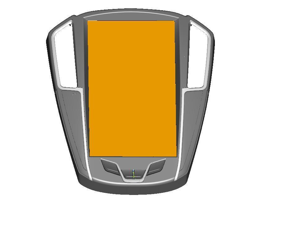 汽车导航面板激光抄数 三维绘图 逆向设计 2