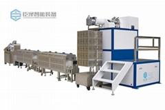 東莞臣澤立式單色硅膠擠出生產線