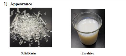 水性丙烯酸樹脂 1