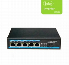 Gigabit solar energy power Ethernet PoE switch